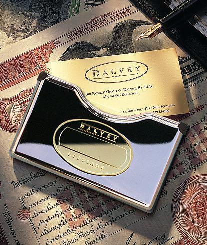Dalvey Spring Loaded Business Card Holder